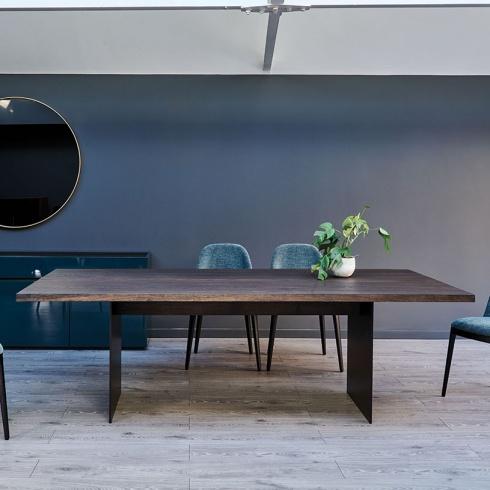 Origin Industrial Wood Dining Table Amp Metal Legs